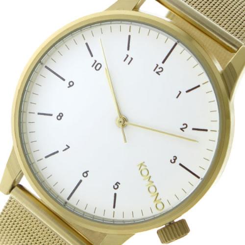 コモノ クオーツ メンズ 腕時計 KOM-W2358 ホワイト></a><p class=blog_products_name