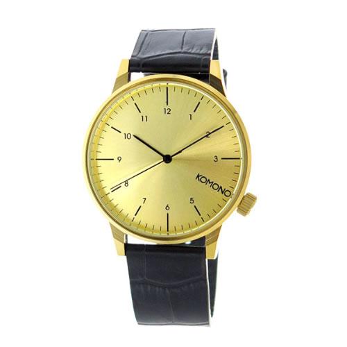 コモノ クオーツ メンズ 腕時計 KOM-W2550 ゴールド></a><p class=blog_products_name