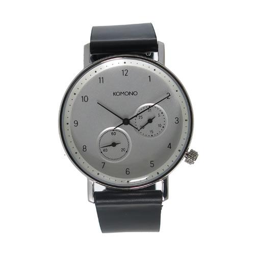 コモノ クオーツ メンズ 腕時計 KOM-W4002 シルバー></a><p class=blog_products_name