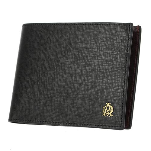 ダンヒル DUNHILL メンズ 二つ折り短財布 L2S832A ブラック