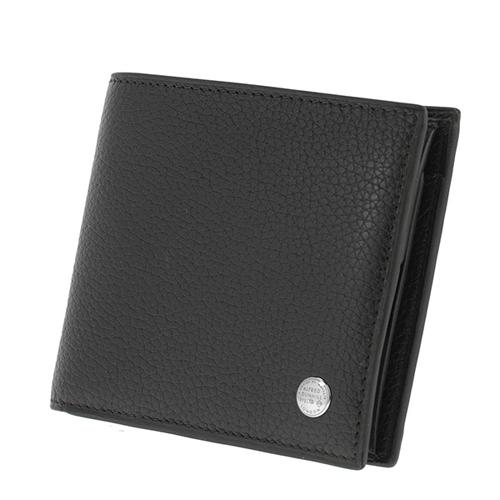 ダンヒル DUNHILL メンズ 二つ折り短財布 L2W332A ブラック