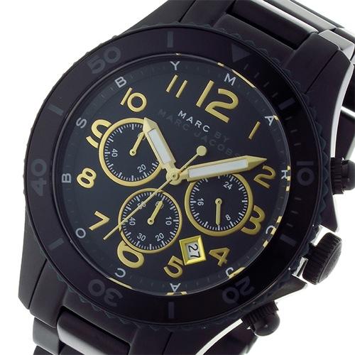 マークバイ マークジェイコブス クオーツ クロノ メンズ 腕時計 MBM8590 ブラック></a><p class=blog_products_name