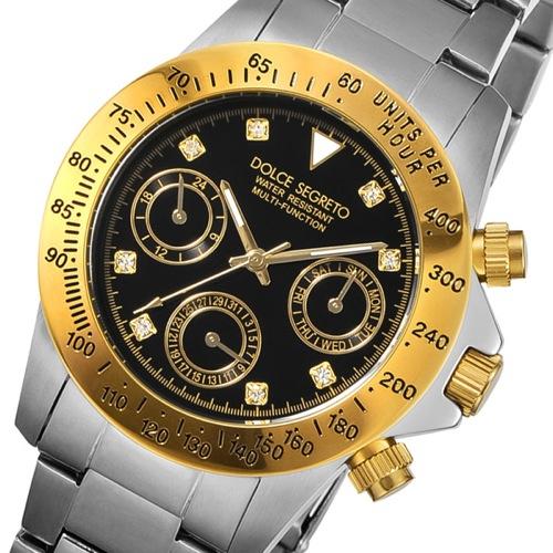 ドルチェ セグレート DOLCE SEGRETO クオーツ メンズ 腕時計 MCG200BK-8 ブラック
