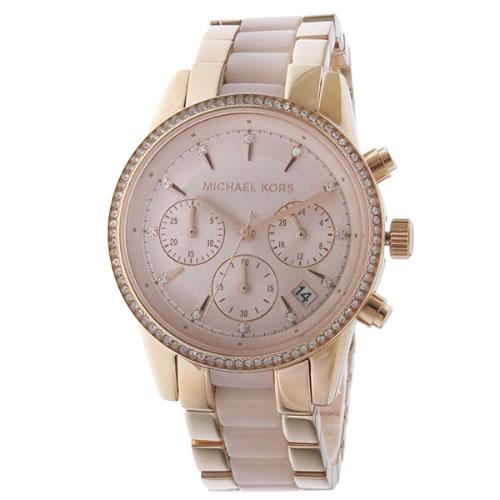 マイケルコース MICHAEL KORS リッツ クロノ RITZ クオーツ ユニセックス 腕時計 MK6307 ローズゴールド></a><p class=blog_products_name