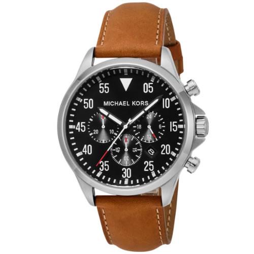 マイケル コース ゲージクロノグラフ メンズ 腕時計 MK8333 ブラック></a><p class=blog_products_name