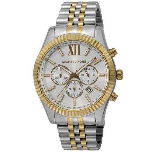 マイケル コース MICHAEL KORS レキシントンクロノグラフ クオーツ メンズ 腕時計 MK8344 ホワイト></a><p class=blog_products_name