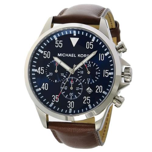 マイケルコース ゲージ クオーツ クロノ メンズ 腕時計 MK8362 ネイビー></a><p class=blog_products_name