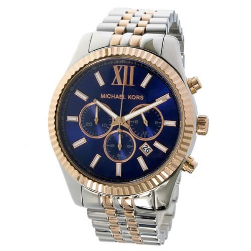 マイケルコース MICHAEL KORS レキシントン LEXINGTON クオーツ クロノ メンズ 腕時計 MK8412 ネイビー></a><p class=blog_products_name
