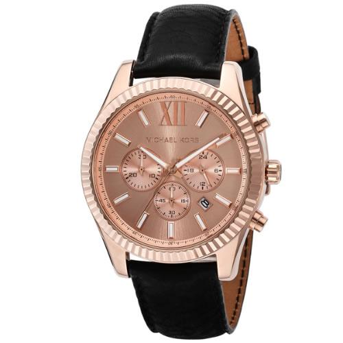 マイケル コース レキシントン クロノ ユニセックス 腕時計 MK8516 ピンクゴールド></a><p class=blog_products_name