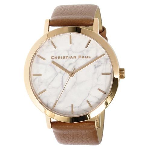 クリスチャンポール マーブル AVALON ユニセックス 腕時計 MR-06 ホワイト
