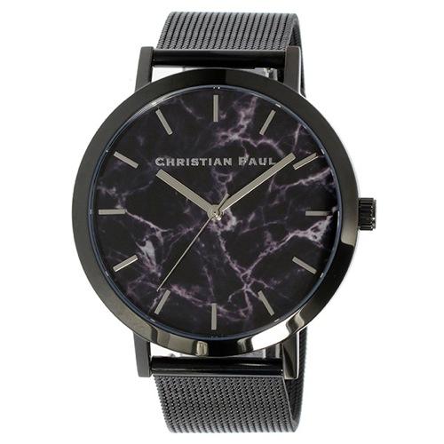 クリスチャンポール マーブル THE STRAND ユニセックス 腕時計 MRM-01 ブラック