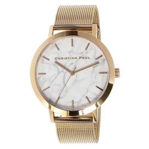 クリスチャンポール マーブル WHITEHAVEN ユニセックス 腕時計 MRM-02 ホワイト
