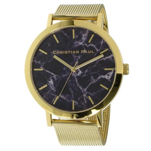 クリスチャンポール マーブル BRIGHTON ユニセックス 腕時計 MRM-04 ブラック