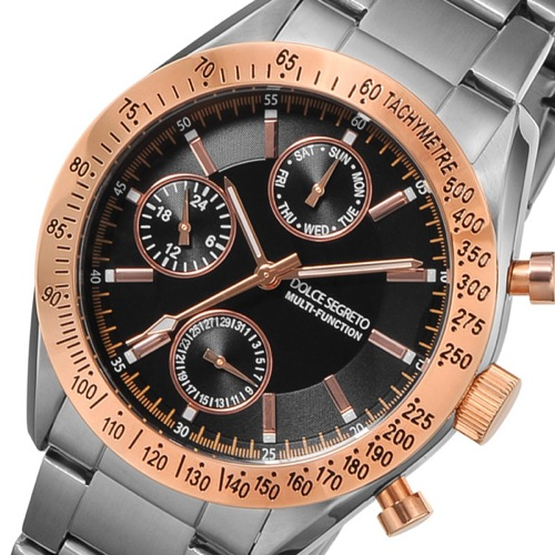 ドルチェ セグレート DOLCE SEGRETO クオーツ メンズ 腕時計 MSM201BK ブラック