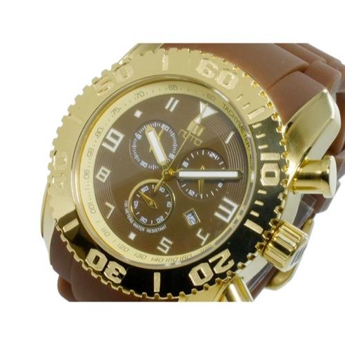 ヌーティッド NUTID MATT BULL クオーツ メンズ クロノ 腕時計 N-1403M-E GD/BR
