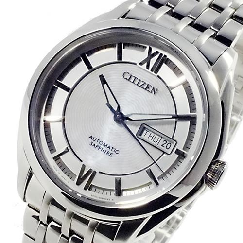 シチズン CITIZEN メカニカル 日本製 自動巻 メンズ 腕時計 NH8340-52A シルバー