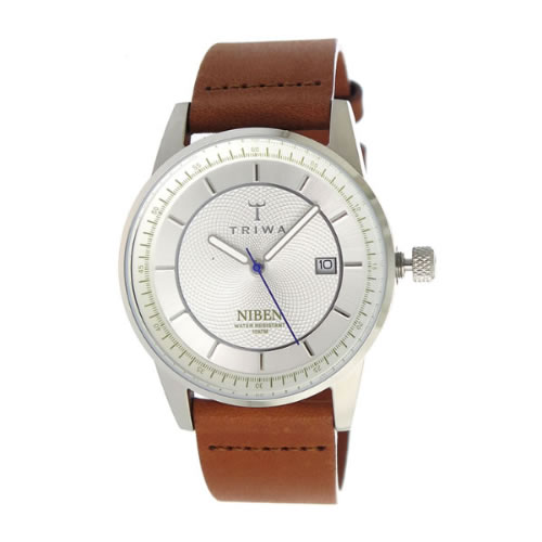 トリワ クオーツ ユニセックス 腕時計 NIST101-CL010212 シルバー / ブラウン></a> <p class=blog_products_name