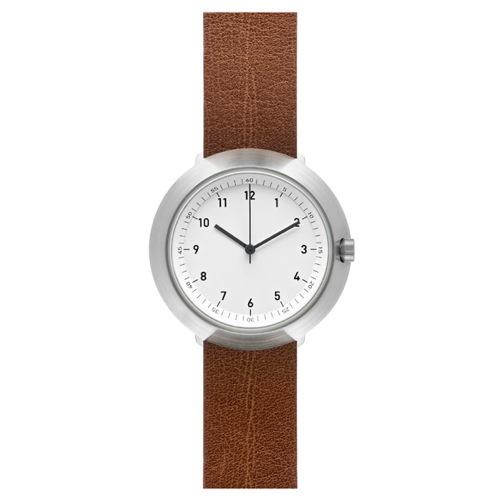 ピーオーエス POS ノーマル NORMAL フジ FUJI クオーツ メンズ 腕時計 NML020036(F43-01/20BR) ホワイト/ブラウン