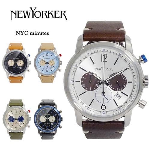 ニューヨーカー ニューヨークミニッツ クロノ メンズ クオーツ 腕時計 NY006.02N