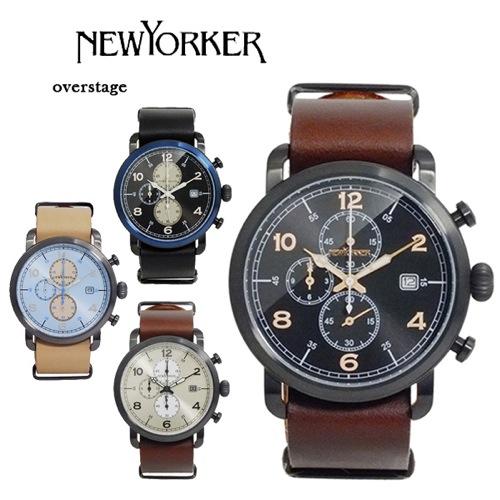 ニューヨーカー オーバーステージ クロノ メンズ クオーツ 腕時計 NY007.03N