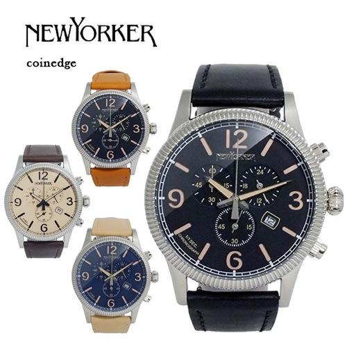 ニューヨーカー コインエッジ クロノ メンズ クオーツ 腕時計 NY008.09N