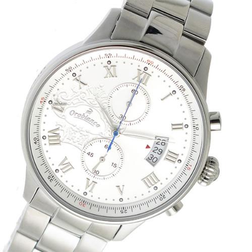 オロビアンコ クロノ クオーツ メンズ 腕時計 OR-0040-0SVSV シルバー></a><p class=blog_products_name