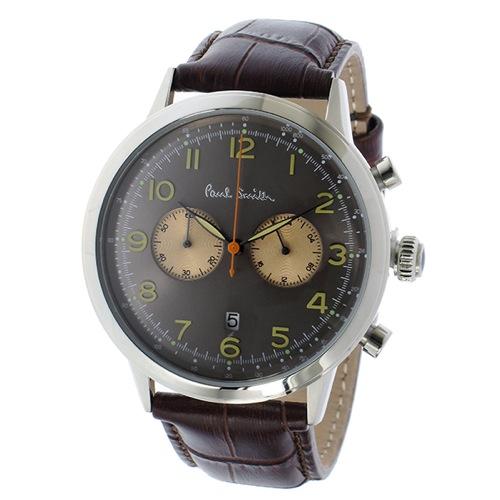 ポールスミス プレシジョン クロノ クオーツ メンズ 腕時計 P10013 グレー