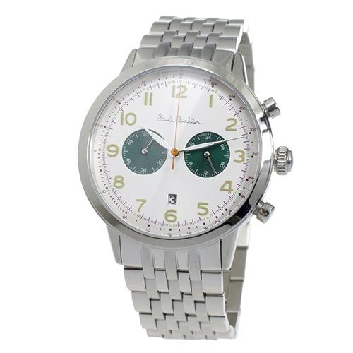 ポールスミス PAULSMITH クロノ クオーツ メンズ 腕時計 P10016 ホワイト