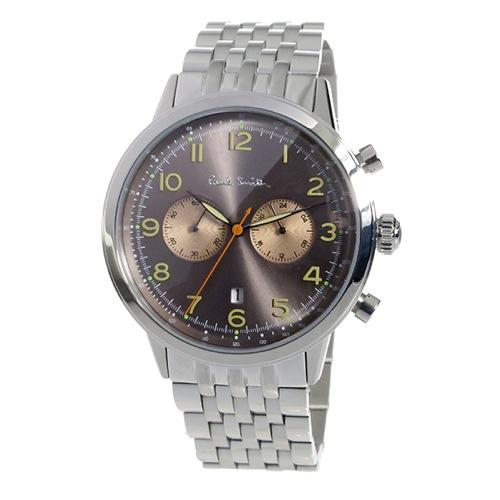 ポールスミス PAULSMITH クロノ クオーツ メンズ 腕時計 P10019 ブラウン
