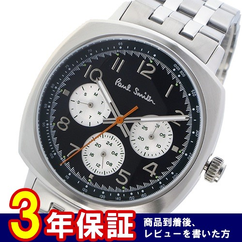 ポールスミス アトミック クオーツ メンズ 腕時計 P10043 ブラック