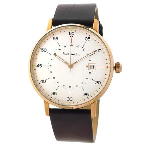 ポールスミス ゲージ クオーツ メンズ 腕時計 P10077 ホワイト></a><p class=blog_products_name
