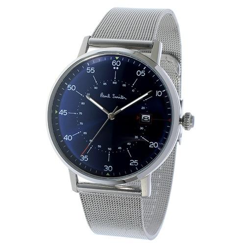 ポールスミス ゲージ クオーツ メンズ 腕時計 P10078 ネイビー