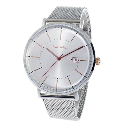 ポールスミストラック Track クオーツ メンズ 腕時計 P10086 シルバー></a><p class=blog_products_name