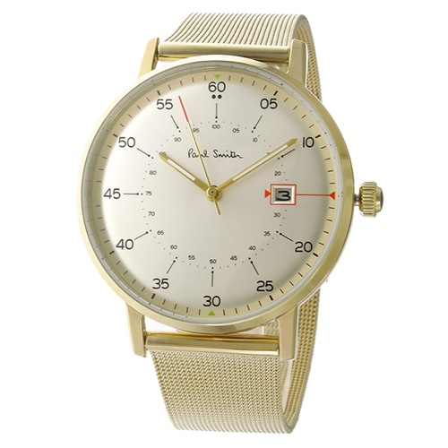 ポールスミス ゲージ クオーツ メンズ 腕時計 P10130 ホワイトシルバー></a><p class=blog_products_name