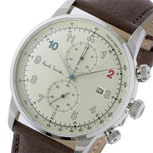 ポールスミス ブロック クロノ クオーツ メンズ 腕時計 P10141 シャンパンゴールド