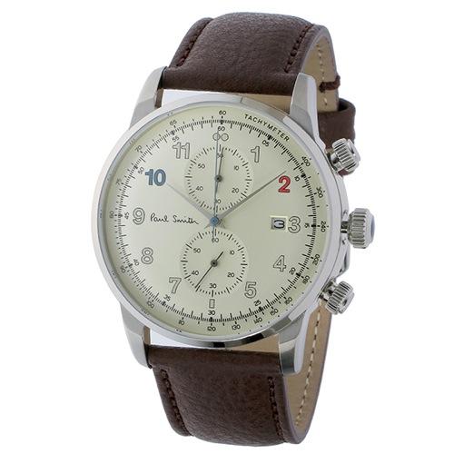 ポールスミス ブロック クロノ クオーツ メンズ 腕時計 P10141 シャンパンゴールド></a><p class=blog_products_name