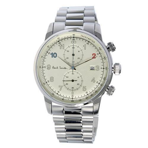 ポールスミス ブロック クロノ クオーツ メンズ 腕時計 P10142 シャンパンゴールド></a><p class=blog_products_name