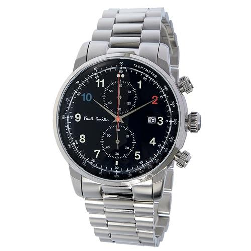 ポールスミス ブロック クロノ クオーツ メンズ 腕時計 P10143 ブラック