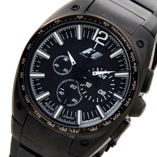 ジャックルマン F1モデル クオーツ メンズ クロノ 腕時計 PF-5011L ブラック