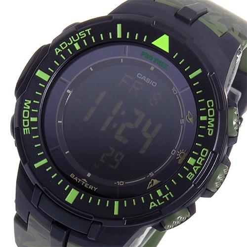 カシオ CASIO プロトレック クオーツ メンズ 腕時計 PRG-300CM-3 グリーンカモフラ