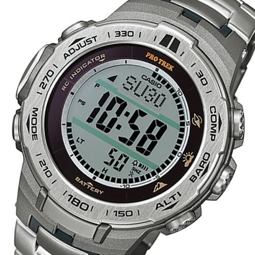 カシオ CASIO プロトレック ソーラー クオーツ メンズ 腕時計 PRW-3100T-7 シルバー