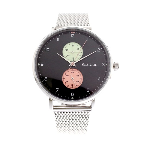 ポールスミス PAUL SMITH 腕時計 メンズ PS0070006 クォーツ ブラック シルバー></a><p class=blog_products_name