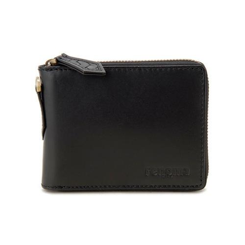 レノマ renoma ジップウォレット 二つ折り短財布 メンズ RE9001-001 ブラック
