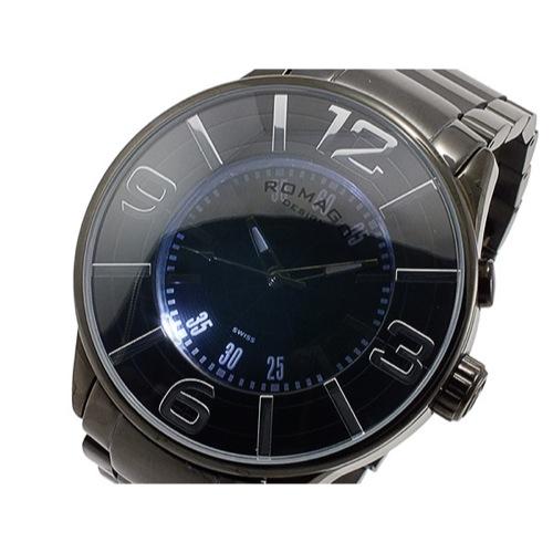 ロマゴ ROMAGO ヌメレーション NUMERATION クオーツ メンズ 腕時計 RM007-0053SS-BK