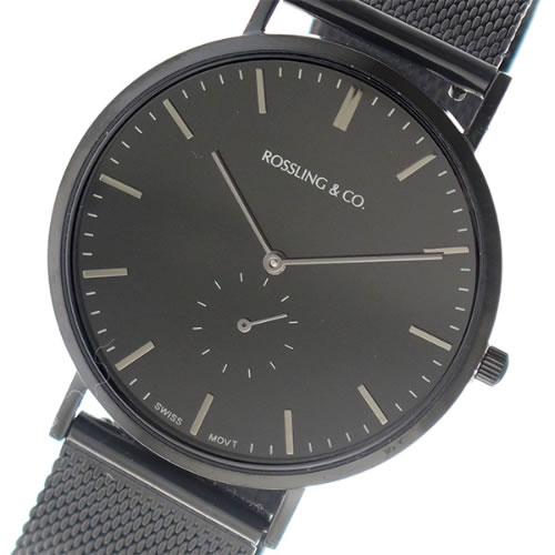 ロスリング CLASSIC 40MM Midnight Mesh クオーツ ユニセックス 腕時計 RO-001-024 ブラックメッシュ/ブラック></a><p class=blog_products_name