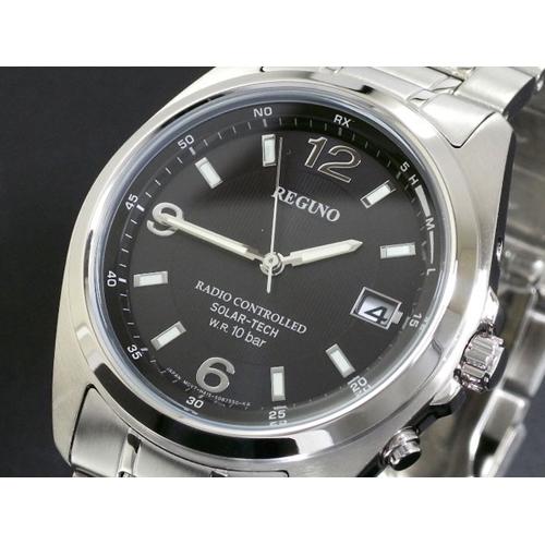 シチズン CITIZEN メンズ レグノ REGUNO 電波 ソーラー 腕時計 RS25-0343H SS