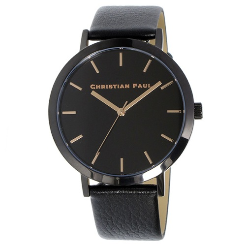 クリスチャンポール ロウ クオーツ ユニセックス 腕時計 RW-03 ブラック