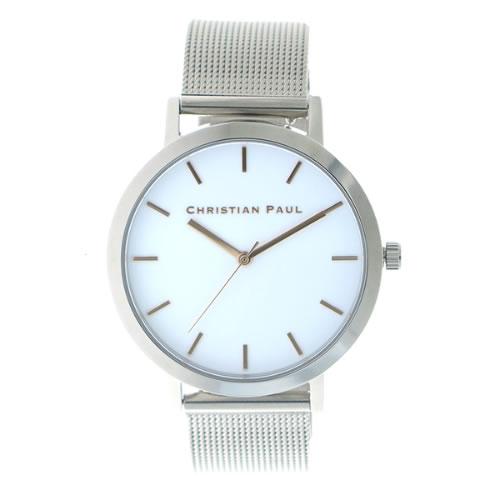 クリスチャンポール CHRISTIAN PAUL 腕時計 メンズ レディース クォーツ RWS4320-R ロウ RAW ホワイト シルバー></a><p class=blog_products_name