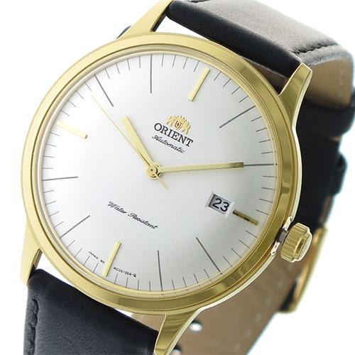 オリエント 自動巻き メンズ 腕時計 SAC0000BW0-B パールホワイト/ブラック></a><p class=blog_products_name