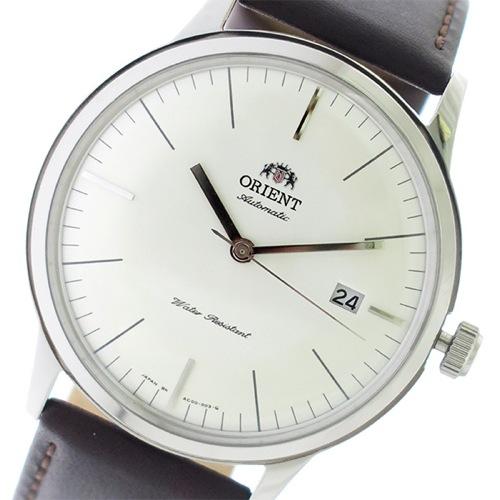 オリエント 自動巻き メンズ 腕時計 SAC0000EW0-B パールホワイト/ブラウン
